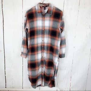 Forever 21 | Button Down Plaid Duster